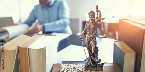 Lady Justice Statue Wallpaper Mural