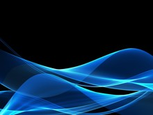 Creative Blue Fractal Waves Art Abstract Background