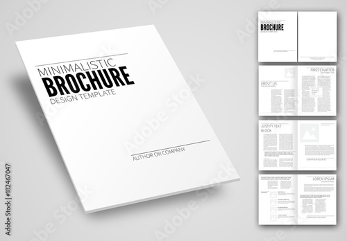 minimalistic brochure layout  buy this stock template and