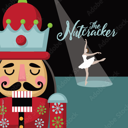 Fotografía Christmas nutcracker cartoon illustration