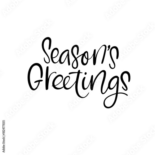 Seasons Greetings. Christmas and Happy New Year cards. Modern ...