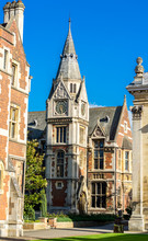 CAMBRIDGE, UK - APRIL 17,2017: Old Court Of Pembroke College In The University Of Cambridge, England. It Is The Third-oldest College Of The University And Has Over 700 Students And Fellows