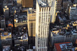Aerial view on Building Skyscrapers at sunset NYC