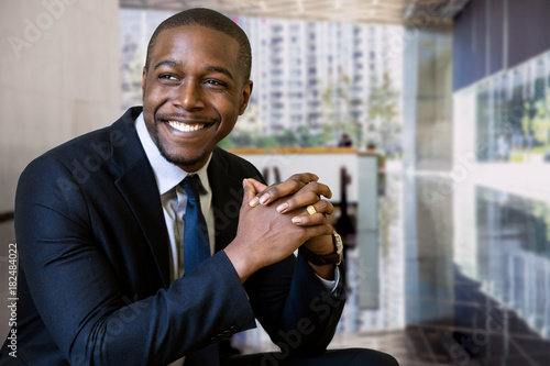 Fotografie, Obraz  Lifestyle portrait of a successful rich businessman executive in luxurious lobby