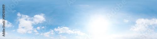 Fotografia  360 degree sky panorama clear blue sky with cloud