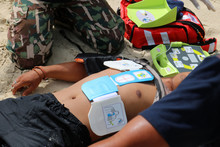 CPR And AED On The Beach, Trai...