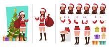 Santa Claus Woman Character Ve...