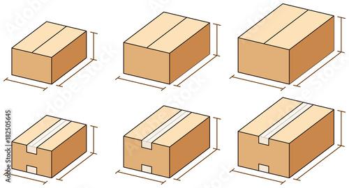 Obraz na plátně ダンボール箱のサイズ
