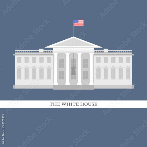 Photo Vector illustration of white house flat style building