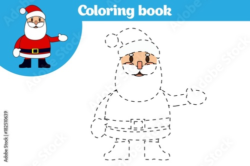 Coloring page, education game for children. Coloring page, drawing ...