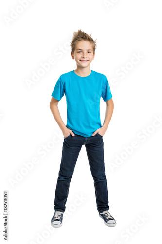 Fototapeta Portrait of happy joyful beautiful boy obraz
