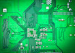 canvas print picture - Green PCB board for   background