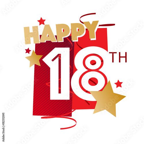 Happy 18th Birthday Tableau sur Toile
