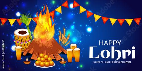 Fototapeta Happy Lohri