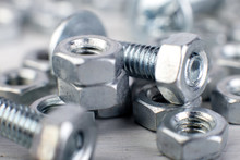 Metal Nuts And Bolts Backgroun...