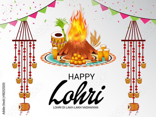 Αφίσα  Happy Lohri.