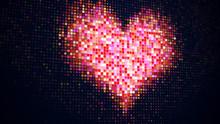 Pixelated Heart Shape On Digit...