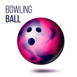 Bowling Ball Isolated Vector. Realistic Illustration