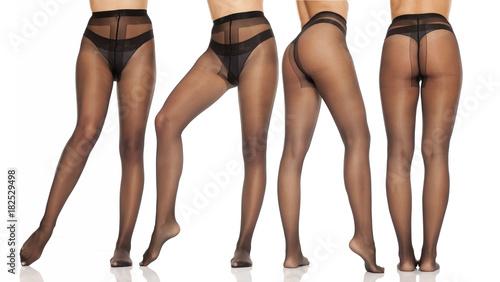 Black nylon legs
