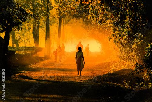 Fototapeta Indian Village obraz na płótnie