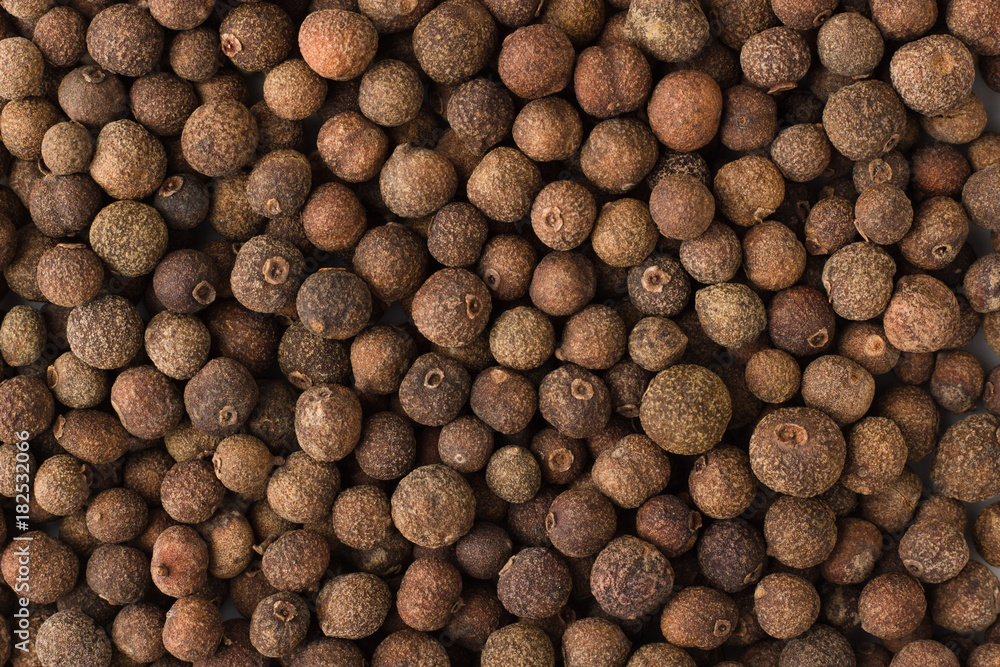 Fototapety, obrazy: allspice spice as a background, natural seasoning texture