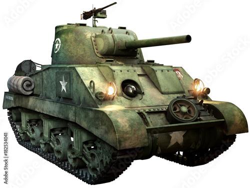Obraz na plátně  Sherman tank