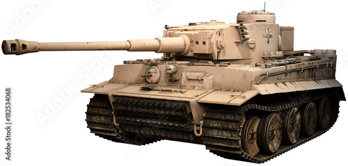 Photo  Tiger tank in desert camoflage