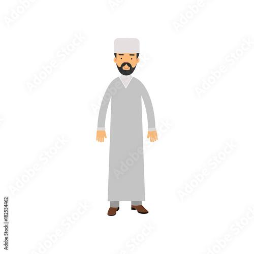 Fotografie, Tablou  Muslim imam character, religion representative vector Illustration