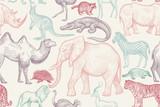 Wzór ze zwierzętami. - 182534887