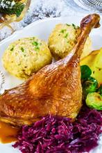 Golden Roasted Turkey Leg With...