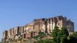 Sunny day in Mehrangarh Fort, Jodhpur, Rajasthan, India