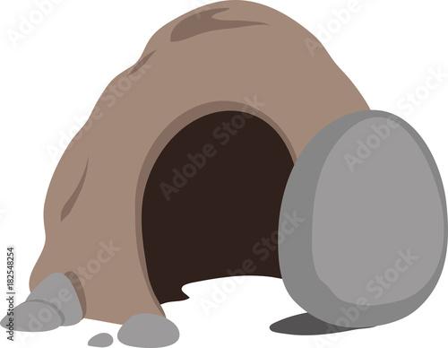 Obraz na plátně Cave tomb entrance