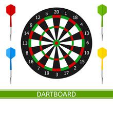 Vector Illustration Of Darts A...