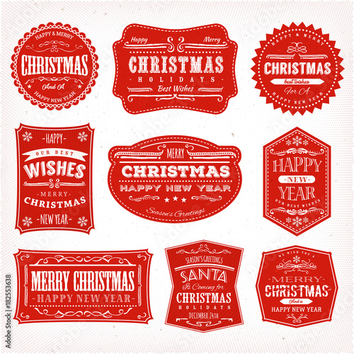 Cuadros en Lienzo  Christmas Frames, Banners And Badges