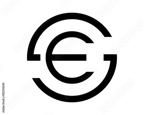 Black Circle Initial Letter Se Or Es Monogram Logo Symbol Buy This Stock Vector And Explore Similar Vectors At Adobe Stock Adobe Stock