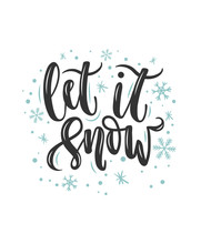 Let It Snow Lettering Card. Ha...
