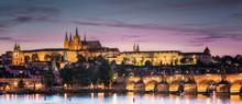 Prague Castle In Sunset