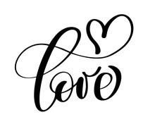 Handwritten Inscription LOVE A...