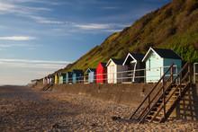 Beach Huts Along Side Cromer B...