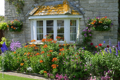 Beautiful flowering spring garden Cornwall, South England Poster