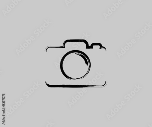 Fotografija camera logo icon Vector Grunge