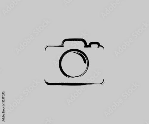 camera logo icon Vector Grunge Wallpaper Mural
