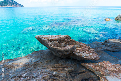 Spoed Foto op Canvas Turkoois Sea landscape in Greece