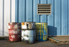 Industrial 55 Gallon Drums