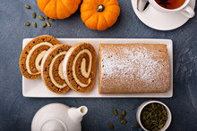 Pumpkin Roll With Cream Cheese...