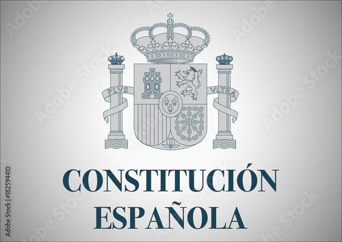 Photo constitución española. spanish constitution