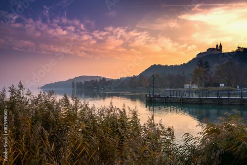Photo  Lake Balaton Tihany sunset