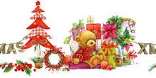 Cute Bear.. Christmas  Background.