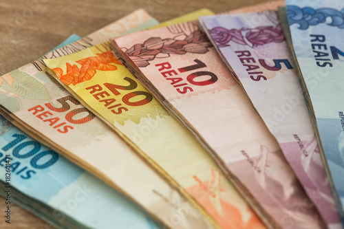Foto  Brazilian money / different nominal