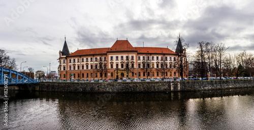 In de dag Brugge December in Ceske Budejovice, Czech republic.